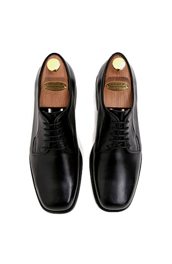 SHOECUS No.SC2578-DERBY BLACK SHOES(수제화)